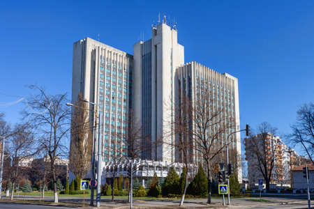 ministry: Building of ministry of agriculture of moldova, chisinau, blue sky Stock Photo