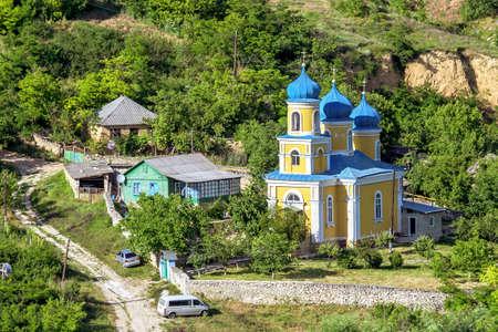 Local church in Trebujeni village, Orheiul Vechi, Moldova, sunny day