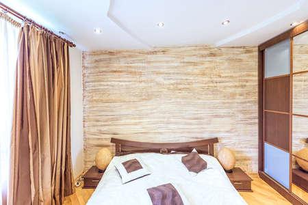 White apartment interior design bedroom modern oriental japanese style in chisinau, buiucani district, moldova