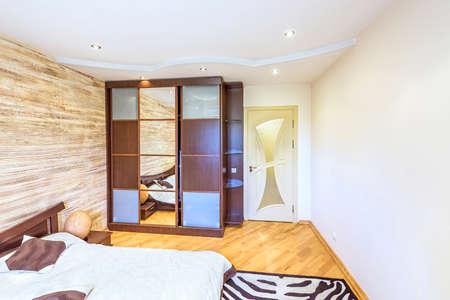 Blanc design d\'intérieur de chambre à coucher moderne style japonais  oriental oriental à chisinau, district de buiucani, Moldavie