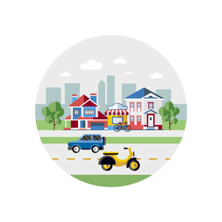Digital Vector Blue City Transport Icons With Drawn Simple Line ...