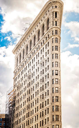 Flatiron building in New York, USA. Vibrant Colors