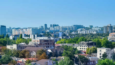 Chisinau city center panorama with buildings in Moldova Zdjęcie Seryjne