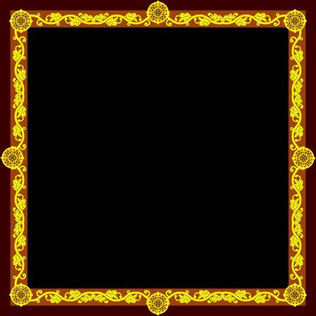 crocket: Golden frame (square)