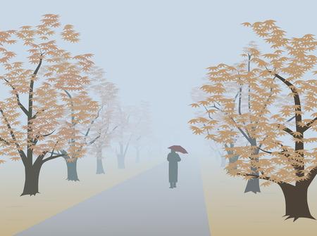 dull: Callej�n en niebla. Forma infinita Vectores