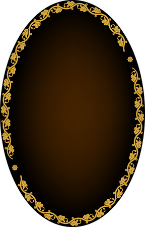 Frame of leaves on dark background Vector