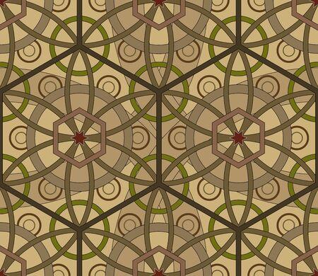 Hexagonal geometric seamless pattern