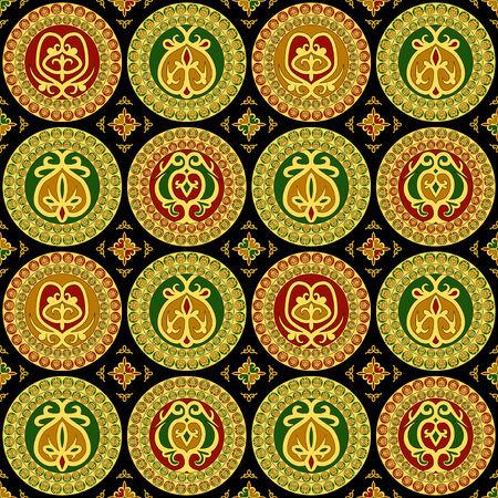Eastern christian seamless ornament Illustration