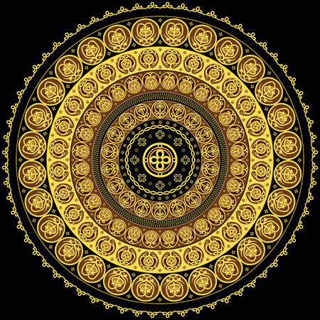 Concentric circular ornament