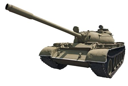 Soviet medium tank T-55 (1955) Stock Photo