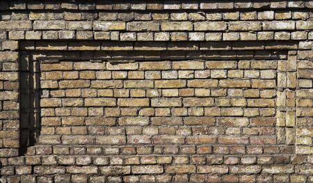 Einbuchtung: Alte Mauer mit rechteckigen Einr�ckung