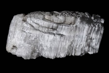 Natural gypsum isolated on black background