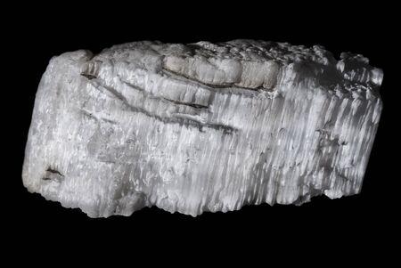Natural gypsum isolated on black background
