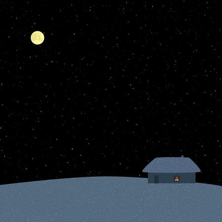 snow drift: Winter starry night