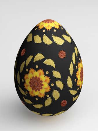 Easter painted egg. 3d illustration