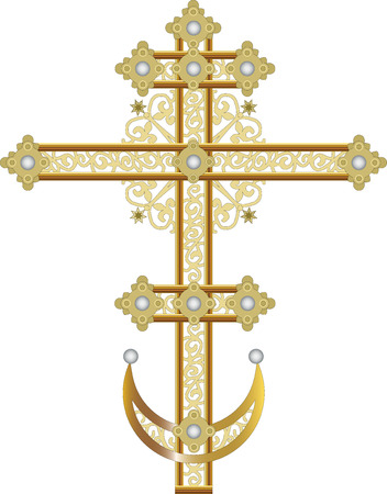 russian orthodox: Ornate cross Illustration