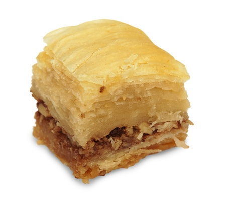 A piece of oriental sweet (pakhlava) Stock Photo