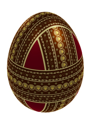 perpendicular: Egg with three perpendicular belts of ornament, 3d illustration
