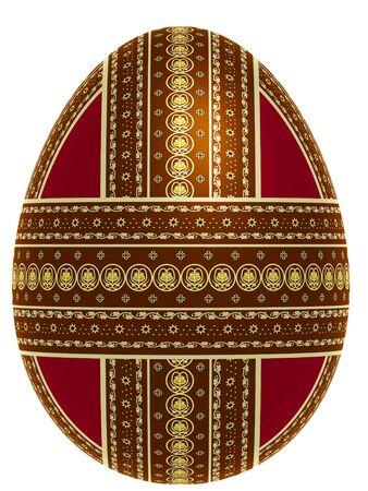 Decorative egg, 3d illustration