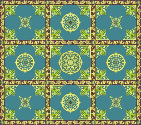crocket: Ornament with geometric and and floral elements