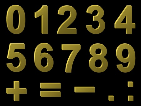 plus sign: Volume metal digits