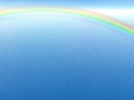 Blue background with rainbow  Illustration