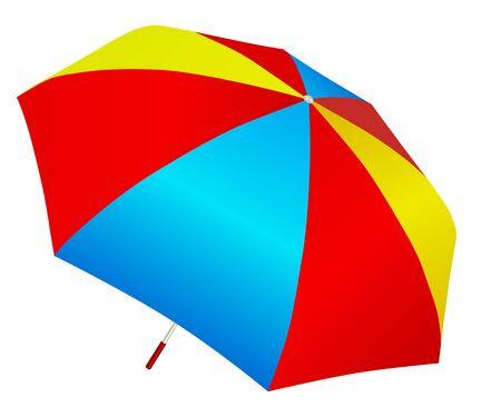 brolly: Multicolored umbrella vector Illustration