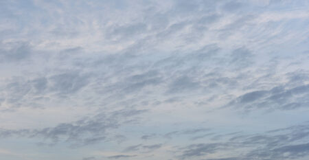 Twilight sky with soft dark and light clouds