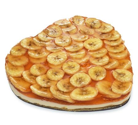 Cheesecake with bananas Stock Photo