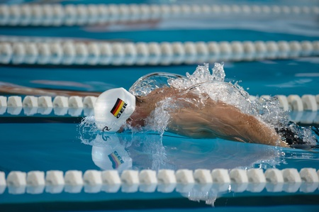MILAN, JUNE 29 :  Paul Biedermann ( Germany ) ,butterfly Style   100 mt in Aspria Swimming Cup 2011 on June 29, 2011 in Milan, Italy