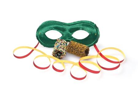 viareggio: Carnival mask and cakes Stock Photo