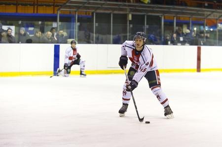 MILAN, DECEMBER, 8: E. Caletti during  H.C. Milan - H.C. Cortina in Italian Ice Hockey Premier League on December 8,  2012, Milan