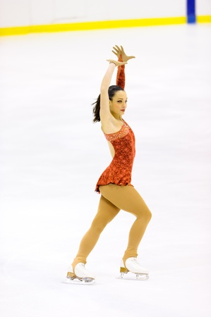 MILAN-DECEMBER 22  Giada Russo  perform in Italian Championships of Figure Skating 2012 on December 22 , 2012 in Milan, Italy