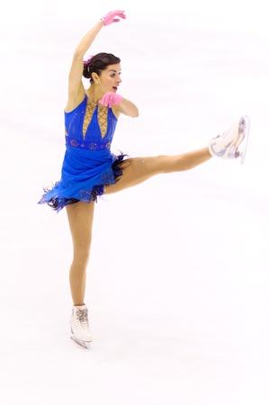 MILAN-DECEMBER 22  Valentina Marchei   perform in Italian Championships of Figure Skating 2012 on December 22 , 2012 in Milan, Italy