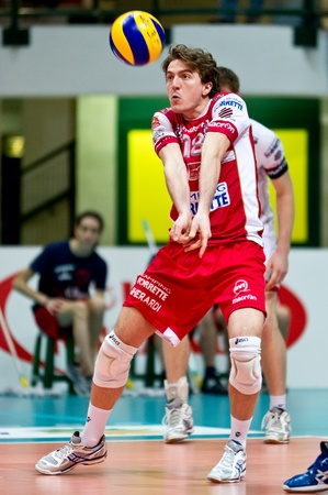 MILAN, ITALY - FEBRUARY, 3   Monza  in A2M   Vero Volley Monza - Gherardi SVI   on february , 2013 in Milan, Italy Stock Photo - 17776637