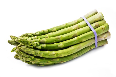Bunch of asparagus isolated on kitchen Stock Photo
