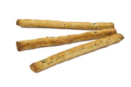 breadstick: some italian grissini sticks isolated on white background