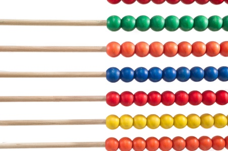 Colorful child abacus isolated over white background photo