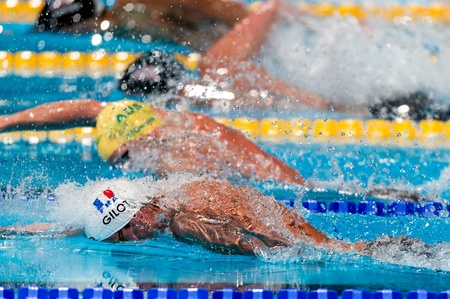 BARCELONA – AUGUST  1  Fabien Gilot   France       in action during Barcelona FINA World Swimming Championships on August 1, 2013 in Barcelona, Spain