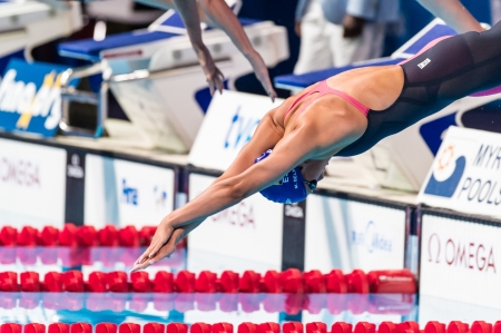 belmonte: BARCELONA – AUGUST  1    Mireia Garcia Belmonte   Spain     in action during Barcelona FINA World Swimming Championships on August 1, 2013 in Barcelona, Spain