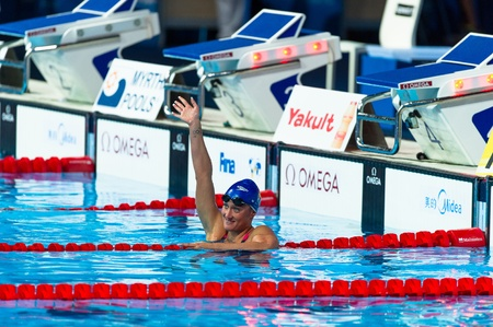BARCELONA – AUGUST  1    Mireia Garcia Belmonte   Spain     in action during Barcelona FINA World Swimming Championships on August 1, 2013 in Barcelona, Spain