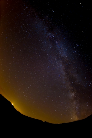 Milk way and stars in night  sky from Italy photo