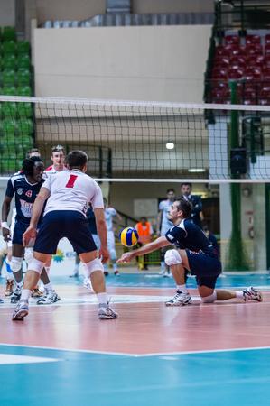 MILAN, ITALY – NOVEMBER, 3:    S. Tiberti  ( 5) in Vero Volley  Monza – Sieco Service Ortona  ( Italian Volley League A2) on November 3 , 2013 in Milan , Italy