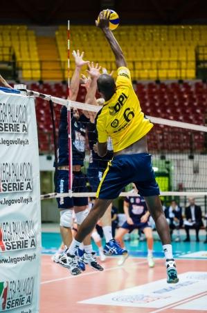 ruiz: MILAN, ITALY - OCTOBER, 28: Ivan Benito Ruiz  (6 Materdomini )  in Vero Volley  Monza - Materdomini: 3-0 ( Italian Volley League A2) on October 28 , 2013 in Milan , Italy