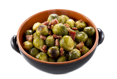 speck: Fried Brussel Sprouts with ham called  speck