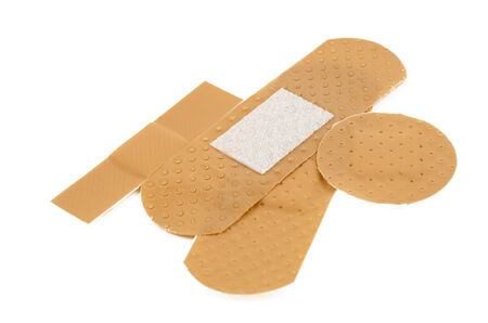 elastic band: bandage  closeup shot, isolated on white  Stock Photo