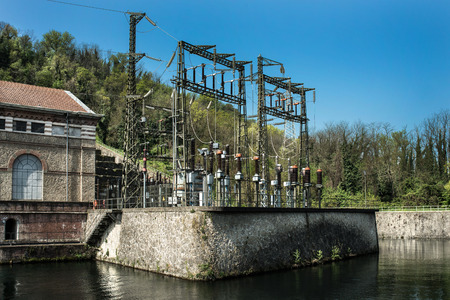 Electrical power station in country side photo