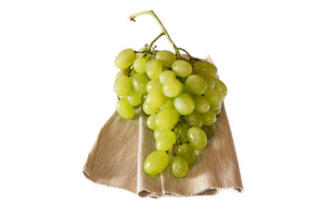 white grape on white background photo