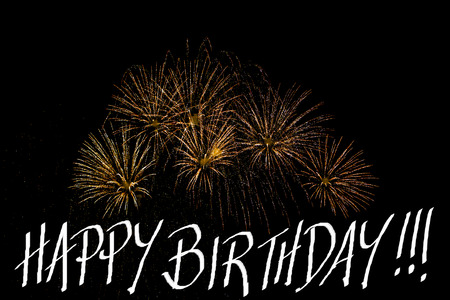 fire works: birth day fire works Stock Photo