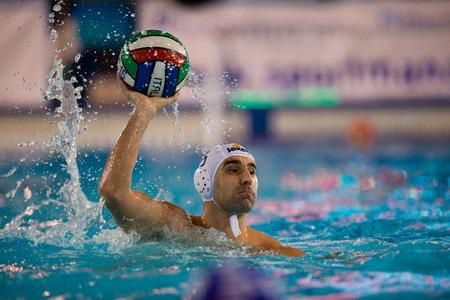 piscina olimpica: MILAN, 22 de enero: Filipovic (Bpm Sport Management) en el juego BPM Sport Management - Canottieri Napoli el 22 de enero de 2015, Mil�n (Italia). Editorial
